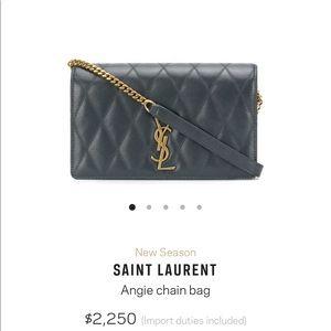 NEW SAINT LAURENT Angie Chain Bag